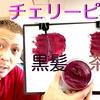 【カラーバター チェリーピンク】黒髪と茶髪に染め比べ