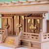 高さ低めの通し屋根三社 尾州桧で作る明治神殿三社