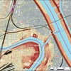 ジオ鹿牛田の観察 (地図の判読から旧市街地の確認まで)