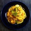 海老とブロッコリーのガーリックトマトパスタ