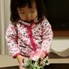2歳児★人生初のフラワーアレンジメントに挑戦!