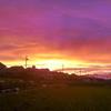 二重虹(ダブルレインボー)と夕焼け いとをかし