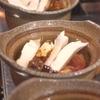 松茸で土瓶蒸し。初物で美味しい味覚。 神戸三宮の季節の料理は安東へ