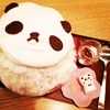 可愛いだけじゃない!美味しいパンダ氷:湯島「サカノウエカフェ」