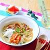 牛カルビとキムチのっけの韓国風くずきり麺☆★