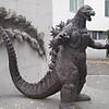 サイクリング・多摩川 東宝撮影所のゴジラ像