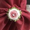つまみ細工  玉バラも作れないのにラナンキュラスを作ってみた