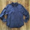 濃紺のコットンリネンでベーシックなシャツを作りました(男性用)
