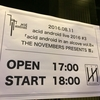 acid android in an alcove vol.8 × THE NOVEMBERS PRESENTS 首@川崎CLUB CITTA' を観る