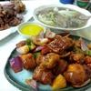 香港地元飯:「香港のダイパイトンで豚料理三昧!」みたいな構成だわね。豚の手のパリパリ焼き、酢豚、豚レバーのクコの実のスープ煮(和記厨房、香車街街市、荃灣)