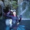 秋休み、鍾乳洞で泳いできました。