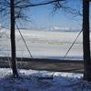 束の間の雪景色