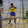 今日のサッカー教室で九龍は効果的なドリブルやボールキープが出来る