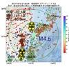 2017年10月19日 21時50分 福島県沖でM4.5の地震