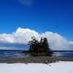 雪景色「恋路海岸」