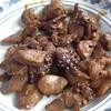 幸運な病のレシピ( 1699 )朝 :鳥レバテリテリ、カボチャ煮つけ、鱒、レバ、味噌汁(カブ)、マユのご飯