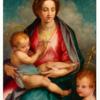 アンドレアデルサルト 「聖母子と幼児の洗礼者ヨハネ」 解体された人間を喰うマリア