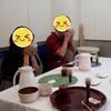 『テーブルで行う茶道』体験お稽古。留学生の男性と。