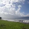 台風の影響で雨が降ったり止んだりの空模様
