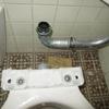 水洗トイレの詰まり抜き02便器解体