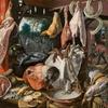 ピーテル・アールツェン作 《施しを与える聖家族と肉の売店》