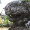 穴水町前波の諸橋稲荷神社(神目伊豆岐比古神社)の狛犬をダイヤモンド富士のように撮りたい