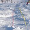 ずらしで滑る8 コブをずらして降りる - コブ初心者、モーグル入門者のための、コブの滑り方(9)