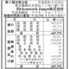 Birkenstock Japan株式会社 第2期決算公告