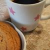 アメリカンクッキーとコーヒー