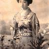 明治期の芸妓、春本の「萬龍」 写真修復カラー化