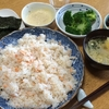 鮭寿司とひじき煮、ブロッコリーの梅わさびマヨネーズ