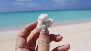 【ひとり旅】【沖縄県・久米島】東洋1の海と言われるはての浜への行き方や注意事項まとめ✎