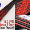 アメリカの市場へ日本シャフトから最も軽いシャフト Pro Modus 3ラインナップ、Black Editionで、クロムの上につや消しのブラックペイントが明らかに追加されています。