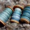 多色染め - 単糸を3本撚りに