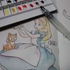100均ディズニー塗り絵よりアリス
