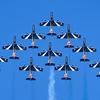 【イタリア空軍】「フレッチェ・トリコローリ」のアクロバット飛行... RIAT/エアタトゥーにて