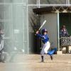 次男 野球試合観戦