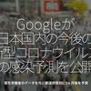 1120食目「Googleが日本国内の今後の新型コロナウイルスの感染予測を公開」厚生労働省のデータを元に都道府県別に1ヶ月後を予測