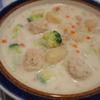 菊芋入りミルクポタージュのポテトニョッキ
