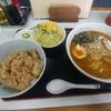 鶴瀬【やまむろラーメン】やき肉丼セット(みそ) ¥910