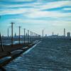 【夕景撮影記】 江川海岸の海へ続く電柱と夕焼けを撮影してきました。