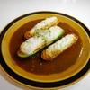 ズッキーニのふわふわミンチ詰めカレーソース