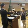 朝会:任命・表彰、全校合唱「ふるさと」の練習