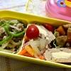 ヨメさん弁当~豚ひき肉と細切り野菜の味噌炒め・お揚げさんと根菜の炊いたん・カレーの具~