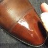 靴磨き  友之介で鏡面磨きにチャレンジ