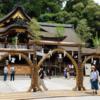 「夏越の祓い」大神神社の三連茅の輪くぐり