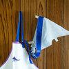 【不用品リメイクの園グッズ】サイズアウトしたオックスフォードシャツで調理実習用の三角巾を作りました