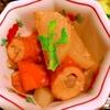 ごぼう天と炒め大根のピリ辛三升漬煮