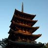 【写真複製・写真修復の専門店】奈良市 興福寺の五重塔 逆光修正