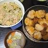 角煮、角煮まん、春雨サラダ、味噌汁